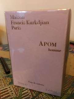 APOM homme male fragrance