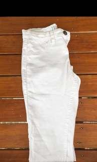 Cotton on mid rise white skinny jeans