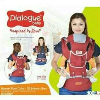 Dialogue Baby Gendongan Hipseat Plain Colour Maroon