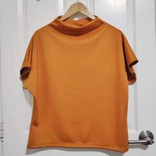 Soft Neoprene Continuous Sleeve Top - Rust