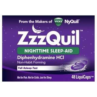 🚚 Vicks NyQuill ZzzQuil, Sleeps Aid, 48 Liquicaps