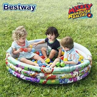 Bestway Kids 1.22m x H25cm Mickey And The Roadster Racers Inflatable Pool New