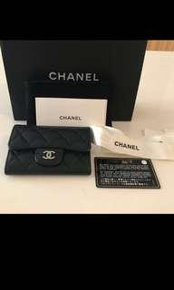 🚚 [Preowned] Chanel Flap Lambskin Small Wallet / Card Holder