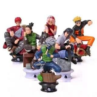 Sale!! Naruto Shippuden chess piece collection of six