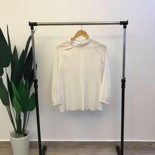 Pleated White Top