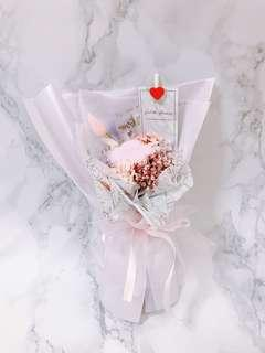 Cotton Flower Bouquet: Happiness