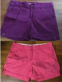 🚚 Bossini Shorts (Maroon Color & Orange Color)
