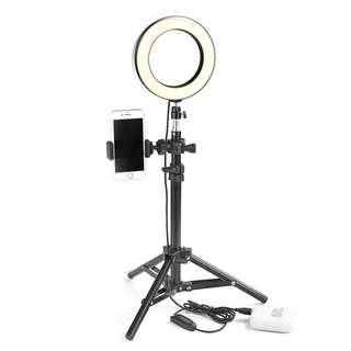 Ring light led dimmable studio camera for makeup live tripod