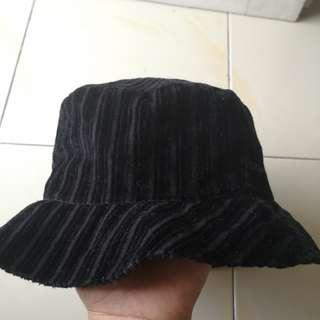 Authentic VERSACE Black Velvet Bucket Hat