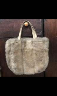 Preloved fur bag from paris