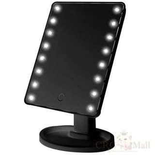 16 Led light touch screen vanity mirror makeup