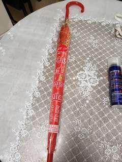 紅雨傘 結婚用 紅遮