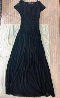 [FREE SHIPPING] Rosemary Black Maxi Dress
