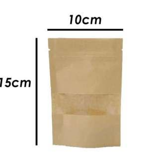 Kraft paper ziplog bag