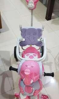 Sepeda gajah pink 3 roda