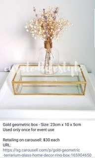 Chic Gold Display Case for Jewellery and Trinkets