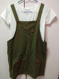 🚚 Army green dungaree