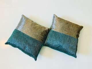 Stone work velvet cushions