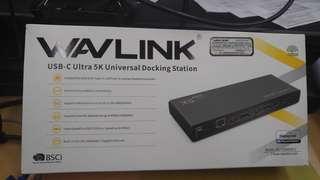 Wavlink WL-UG69DK1 type-c notebook docking station 95% new