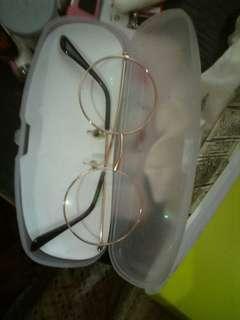 Kacamata vintage, berlensa -0.5 -0.75