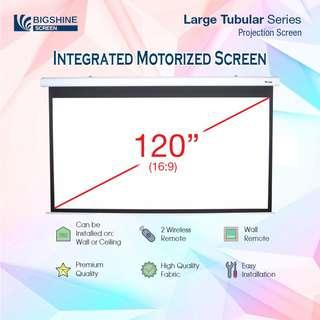 "[BIGSHINE] 120"" (16:9) Integrated Motorized Projector Screen"
