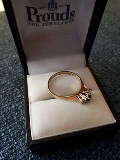 Size N 1/2 18ct ring