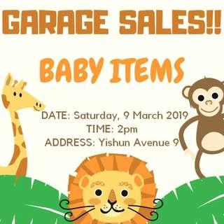GARAGE MOVING OUT SALE FOR BABIES ITEMS!!