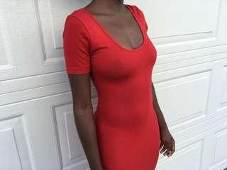 Red bodycon American Apparel dress