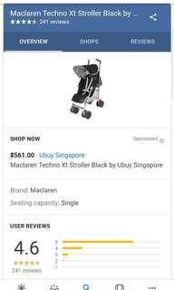 🚚 MACLAREN Techno XT Stroller buggy pushchair