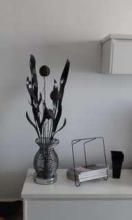 Metal black silver plant