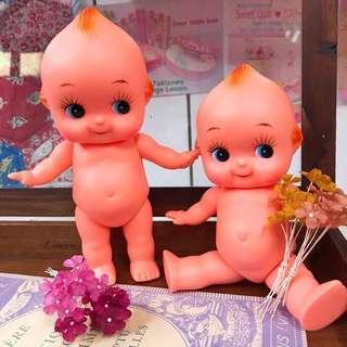 🚚 20公分Q比娃娃 20cm kewpie Q比公仔 小天使娃娃 膠皮娃娃 日本製 坐姿Q比娃娃 古董娃娃 公仔娃娃