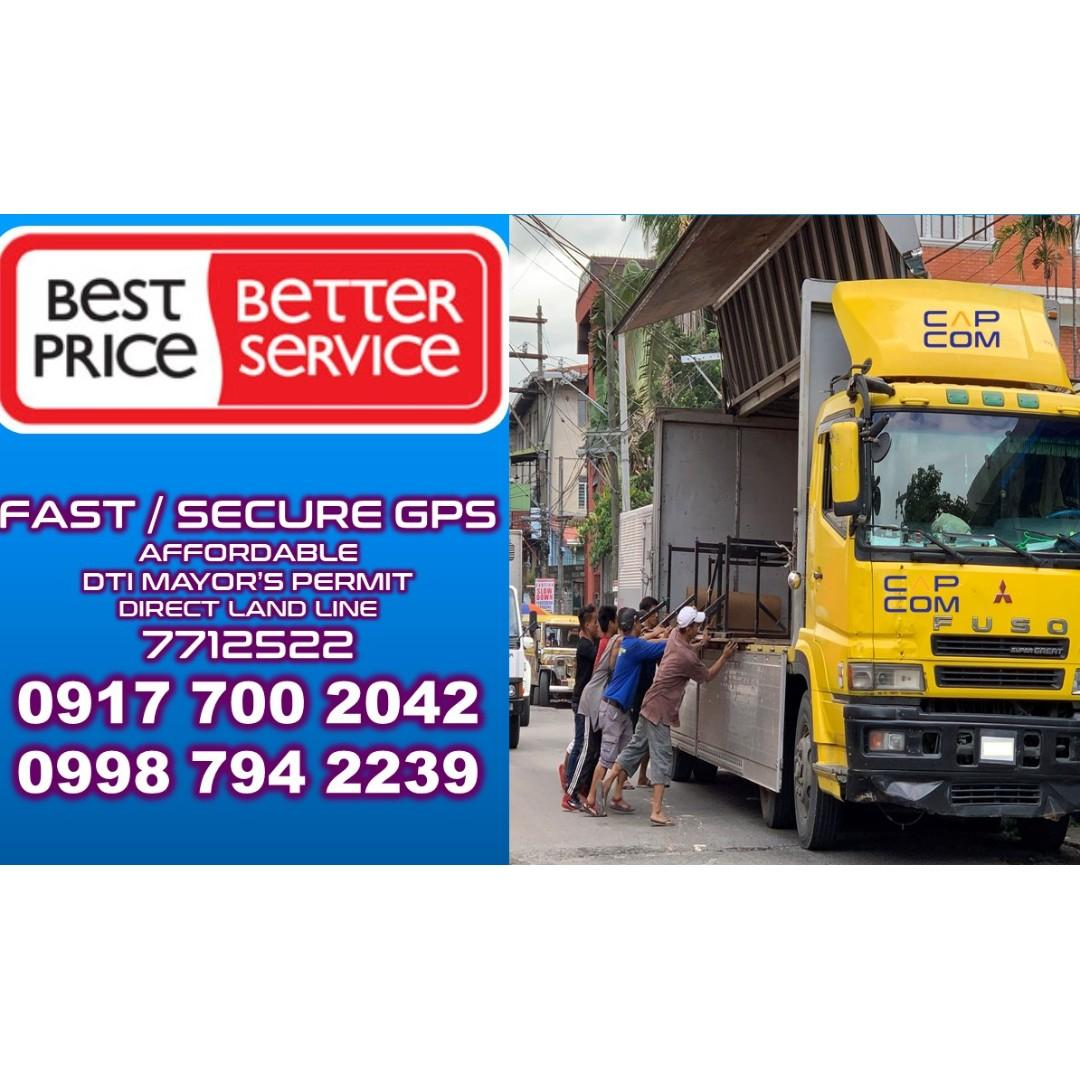 10 wheeler wing van Truck for rent hire  trucking services metro manila provinces RORO