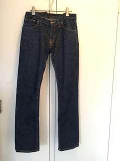 Women's dark Nudie Jeans. Size 29/32