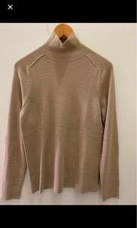 🚚 義大利製 Stefanel 駝色羊毛針織衫上衣