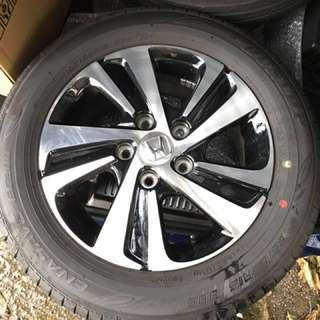 "Honda rim 15"" with 99.9%new tyres 1 set"