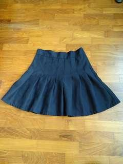 Preloved navy blue pleated skirt