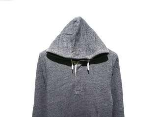 Hoodie Jumper H&M Button Down Grey