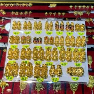 999 pure gold pixiu charms
