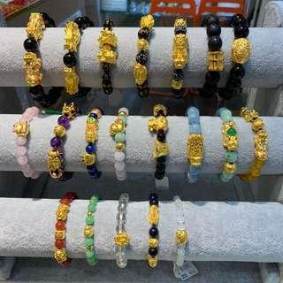 🚚 999 pure gold charm bracelets