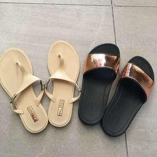 NEW! Crocs Metallic Slide (w/ Aldo Sandals)