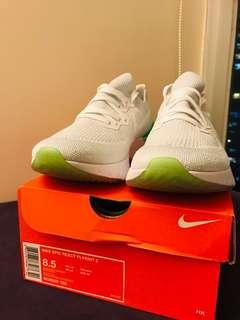 Nike Epic React Flyknit 2 - White & Lime Blast (US8.5 / 26.5cm)