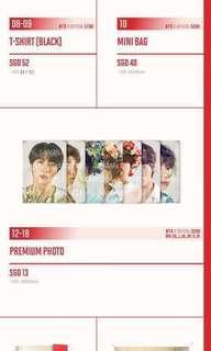 WTS BTS LOVE YOURSELF WORLD TOUR MERCHANDISE (premium photo, image picket, nametag)