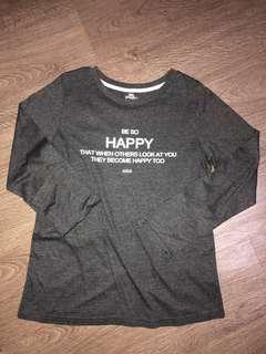 🚚 dark grey printed long sleeve shirt