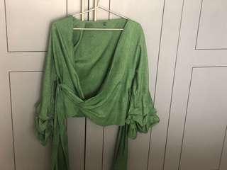 🚚 Kimono green Top