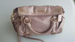 Miu miu leather bag / miu miu 蝴蝶袋