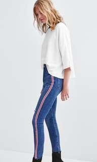Red Stripe Jeans