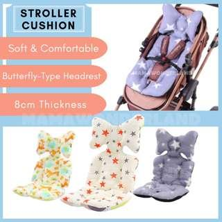 [READY STOCK] Baby Stroller Cushion Butterfly-type Pillow Baby Protection Pad