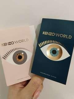 🚚 Kenzo World Eau De Toilette & Parfum Intense 1ml each