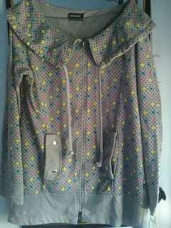Jaket Nevada Abu-abu Polkadot