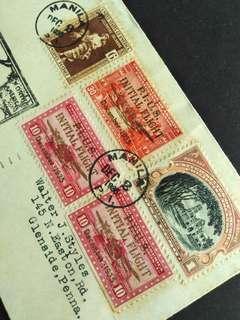 🚚 1935 US Philippines Manila cover